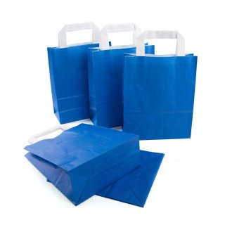 Tasche mit Boden & Henkel dunkelblau 18 x 22 x 8 cm an Taufe Hochzeit