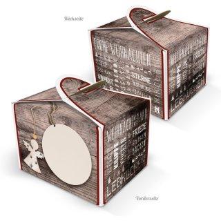 Kleine Weihnachtsverpackung 8 x 6,5 x 5,5 cm - Weihnachtsschachtel als Verpackung für Geschenke