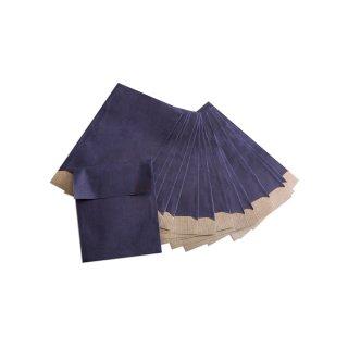 Mini Papiertüten 7 x 9 cm blau - kleine Beutel für Globuli Pillen Schmuck