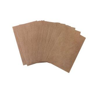 Mini Kraftpapier Tüte braun - 5,3 x 7,8 cm - als Verpackung von Klammern Samen
