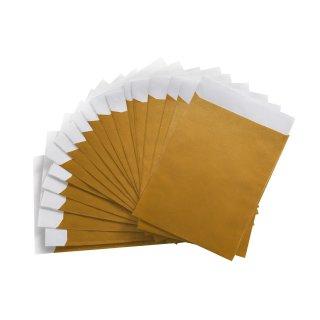 Goldene Flachbeutel 9,5 x 14 cm - zum Verpacken von kleinen Geschenken an Hochzeiten Weihnachten