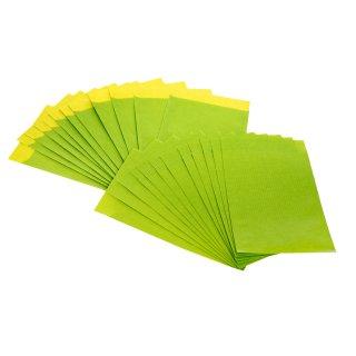 Kleine Flachbeutel limone aus Papier - 9,5 x 14 cm - zum Verpacken von Geldgeschenken Samen give-aways