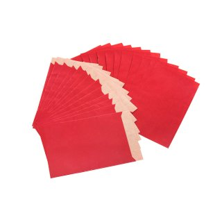 Papier Tüten 13 x 18 cm in rot - Verpackung flach
