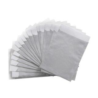Silberne Papierbeutel (13 x 18 cm) - zum Einpacken von Geburtstagsgeschenken Fotos