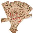 Große Weihnachten Aufkleber - 5 x 42 cm - braun rot...