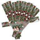 Längliche Banderole Frohe Weihnachten rot grün...