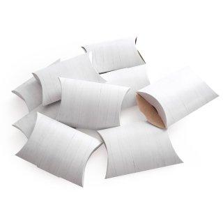 Kleine flache Schachtel in 15 x 10,3 x 3 cm Holzoptik weiß grau - für Geschenke und give-aways