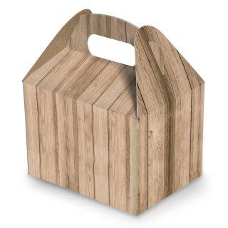 Verpackung mit Henkel in Holzoptik - 12,5 x 18,5 x 12 cm - hellbraun natur für kleine Präsente Aufmerksamkeiten