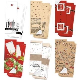 Weihnachtsaufkleber Set mit Text 5 x 14,8 cm - 6 x 10 weihnachtliche Sticker