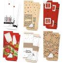 Weihnachtsaufkleber Set mit Text 5 x 14,8 cm - 6 x 10...