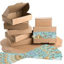Geschenkboxen braun + große Weihnachtsaufkleber in...
