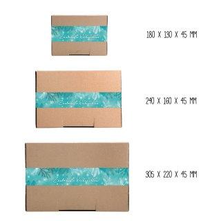 Braune Geschenkboxen in verschiedenen Größen mit großen ZAUBERHAFTE WEIHNACHTEN Aufkleber