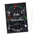 Postkarten Weihnachten DIN A6 hoch Tafelkreide-Optik...