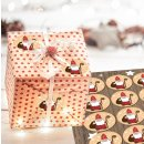 Weihnachtsaufkleber Heiliger Nikolaus rot weiß gold...