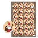 Weihnachtliche Sticker - 4 cm rund - mit heiligem...