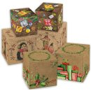 3 x 5 Weihnachtsschachteln in braun grün rot im SET...