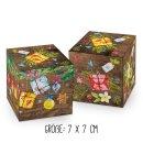 3 x 5 Weihnachtsschachteln in braun grün rot im SET - kleine Geschenkboxen verschiedener Größen