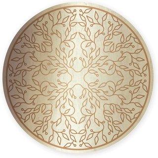 Wandbild in silber und gold mit Motiv Lebensbaum zum Aufhängen - 21 cm rund
