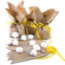 Osterhasentüten klein - braune Hasentüten in...
