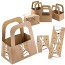 5 kleine Osternest Verpackungen - Henkelkorb aus...