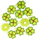 12 kleine Kleeblätter mit Klebepunkt - 5 cm...