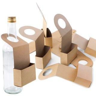Braune Flaschenanhänger aus Kraftpapier - 20 cm - zum Befüllen