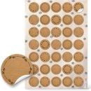 3 x 35 Aufkleber zum Beschriften in brauner Kraftpapier-Optik - kleine beschreibbare Papieraufkleber