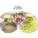30 bunte Marmeladendeckchen aus Recyclingpapier - 5 x 6 Stück