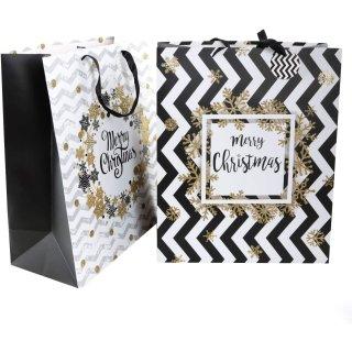 2 XXL Weihnachtstüten MERRY CHRISTMAS - extra große 50 x 40,5 cm