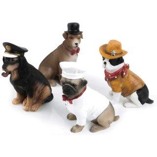 4 Hunde Figuren - 12 cm - als kleines Geschenk für Hundebesitzer