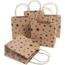 5 kleine weihnachtliche Papiertüten mit Henkel braun...