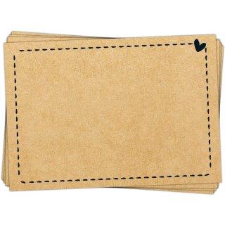 25 kleine Aufkleber zum Beschriften 7,4 x 5,2 cm - Blanko Sticker