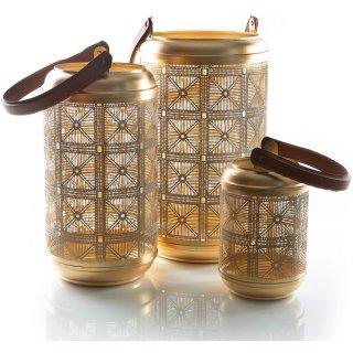 3 Laternen Gold braun orientalisch - verschiedene Größen