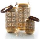 3 Laternen Gold braun orientalisch - verschiedene...