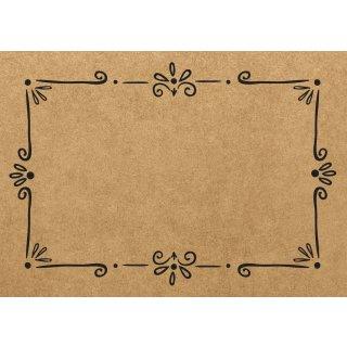 Platzsets aus Papier - DIN A3 braun schwarz - für Restaurants & Feiern