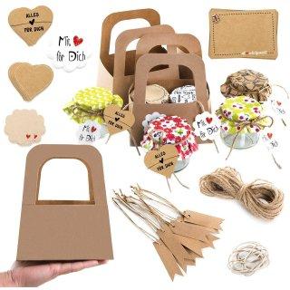 82-tlg. Bastel-Set zum Verpacken von Marmeladen & DIY Geschenken