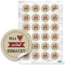 Sticker Set 3 x 24 Aufkleber Mit Liebe selbstgemacht + Danke - Geschenkaufkleber