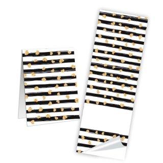 Neutrale Geschenkaufkleber zum Beschriften - 5 x 14,8 cm - schwarz weiß gold