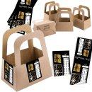 5 Geschenktaschen aus Kraftpapier + 10...