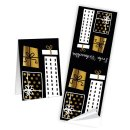5 Geschenktaschen aus Kraftpapier + 10 Weihnachtsaufkleber schwarz gold