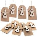 10 weihnachtliche Geschenkenkanhänger mit...