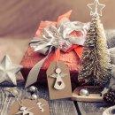 10 weihnachtliche Geschenkenkanhänger mit Schutzengel braun natur gold