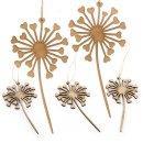 5 Pusteblumen Anhänger aus Holz natur braun mit...