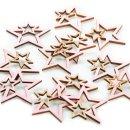 12 Holzsterne zum Streuen rosa gold - Streudeko Sterne...