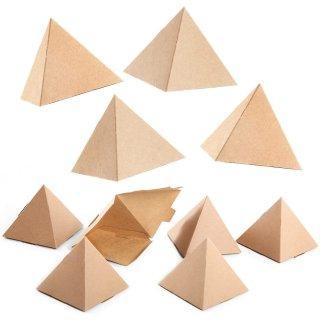 Mini Geschenkboxen aus Kraftpapier braun in Pyramiden-Form
