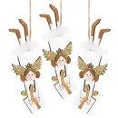 3 Engelanhänger - fliegendes Christkind mit Geschenk...