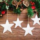 10 große Sterne zum Aufhängen aus Holz...