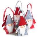 Nikolaus Geschenkbeutel Set - 4 Wichtel Taschen mit Henkel