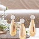 3 Engel Figuren Gold Natur weiß - Weihnachtsdeko...