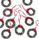 graue Weihnachtstüte + Weihnachtskranzanhänger...